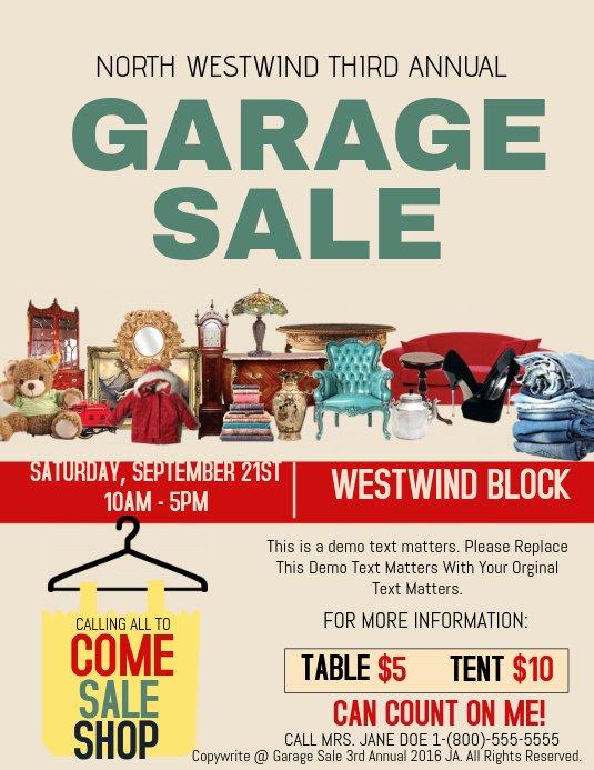 Garage Sale Flyer Template Free Lovely Garage Sale Template