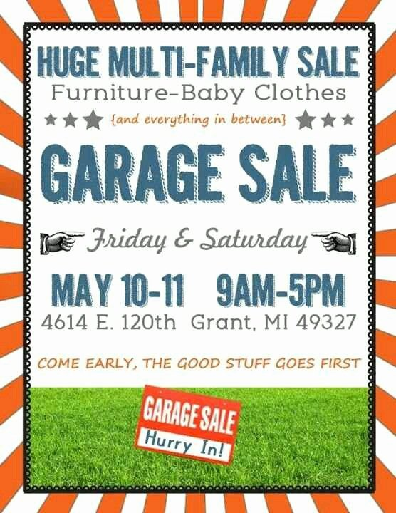 Garage Sale Flyer Template Free Luxury 16 Best Images About Garage Sale On Pinterest