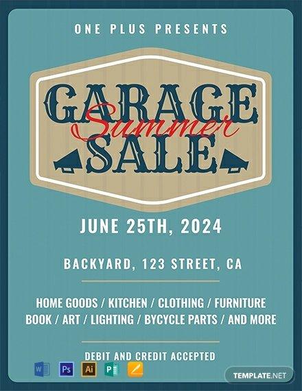 printable garage sale flyer