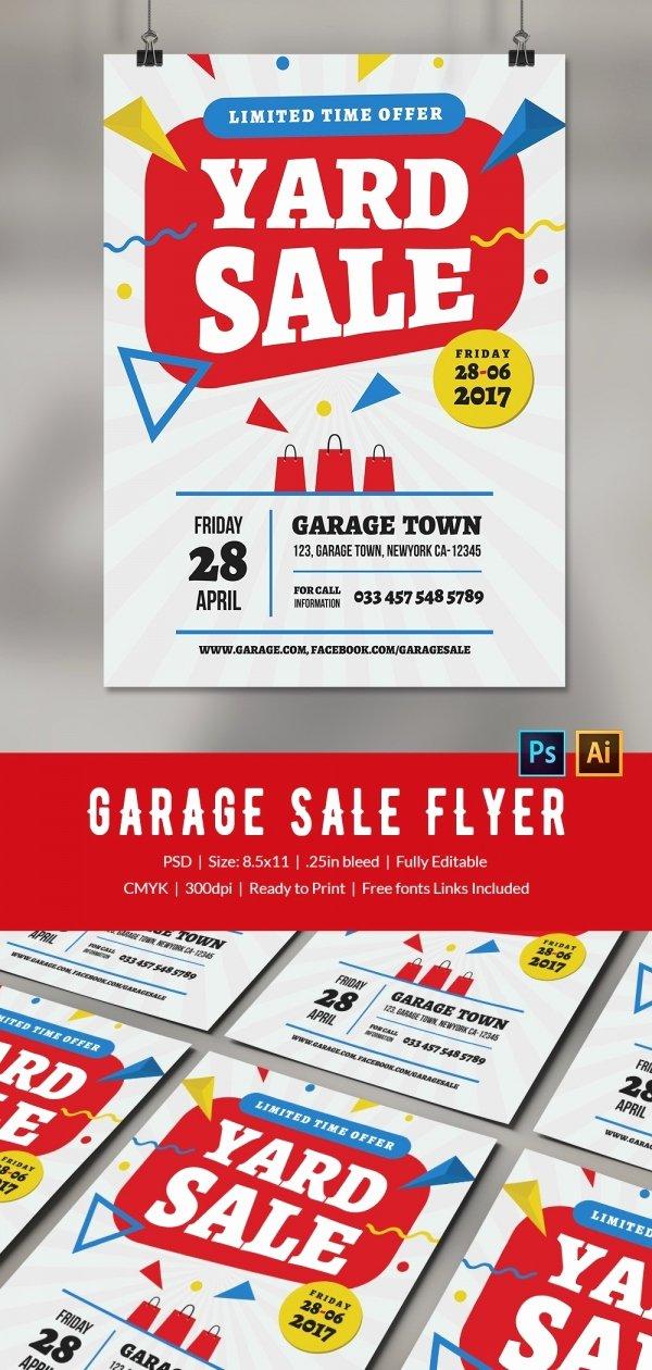 Garage Sale Flyer Template Free New 14 Best Yard Sale Flyer Templates & Psd Designs