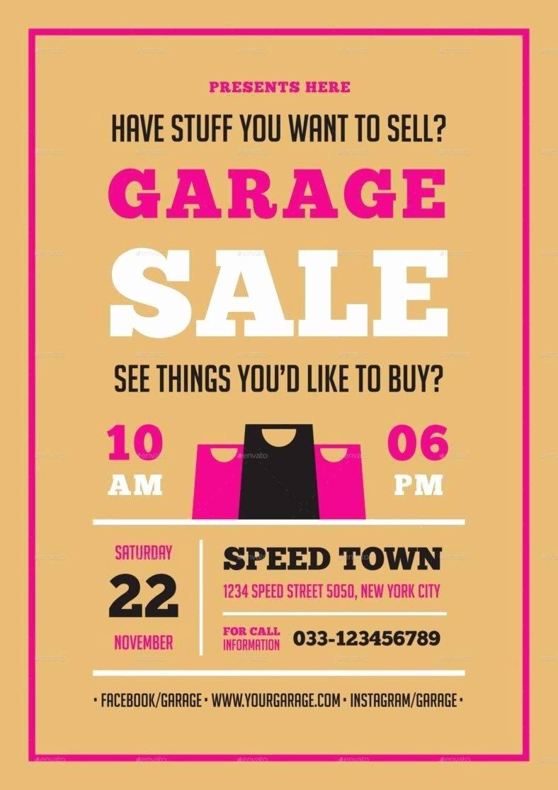 Garage Sale Flyer Template Free Unique 14 Garage Sale Flyer Designs & Templates Psd Ai