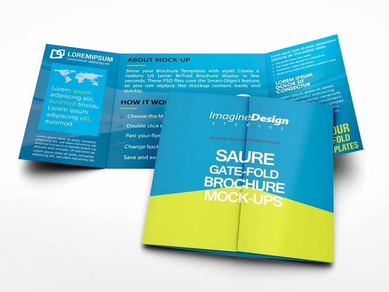 Gate Fold Brochure Template Best Of Square Gate Fold Brochure Mockup by Idesignstudio On Dribbble