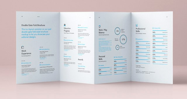 Gate Fold Brochure Template Inspirational Psd Double Gate Fold Brochure Vol4 Psd Mock Up Templates