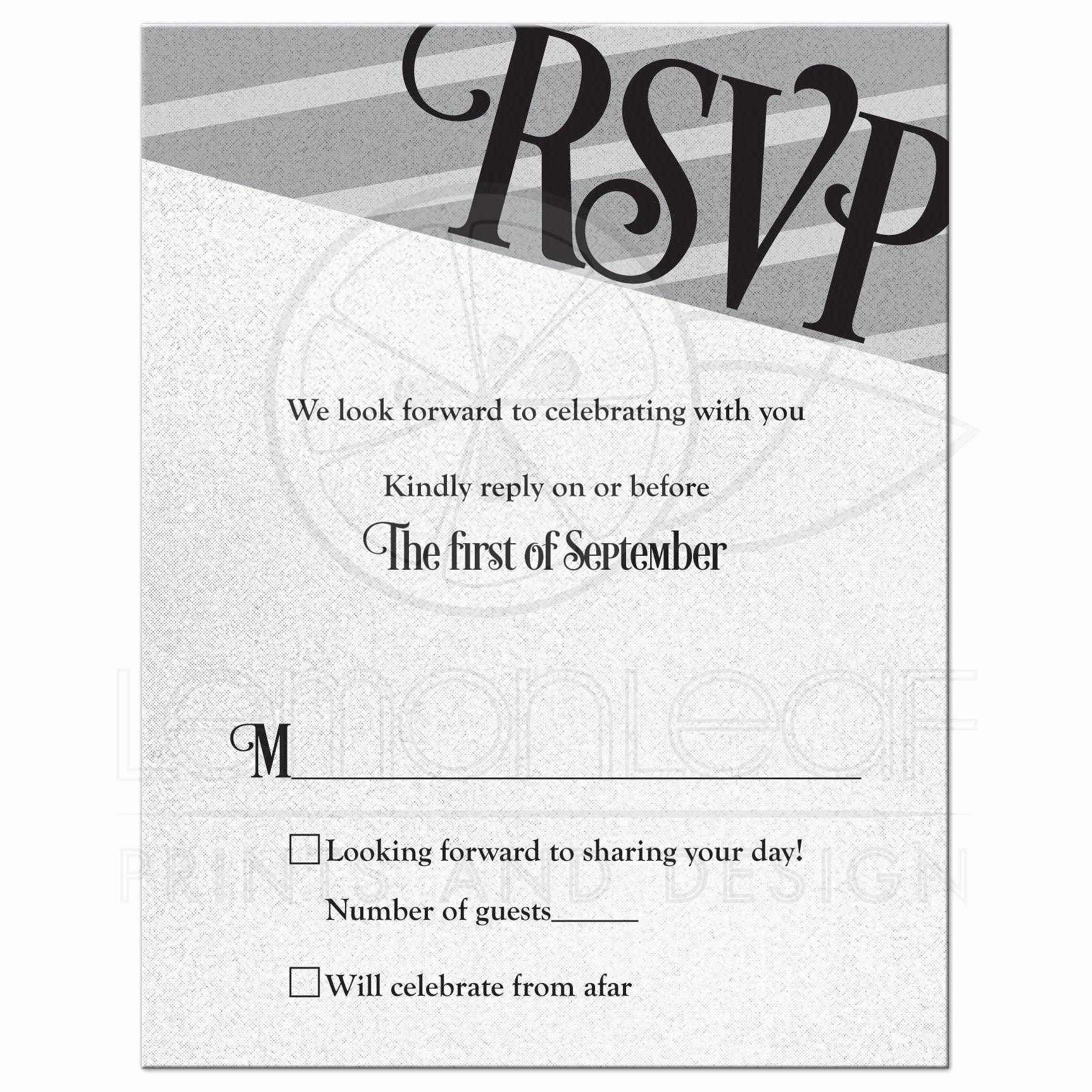 Gay Wedding Invite Wording Beautiful Gay Wedding Rsvp Card Silver Black