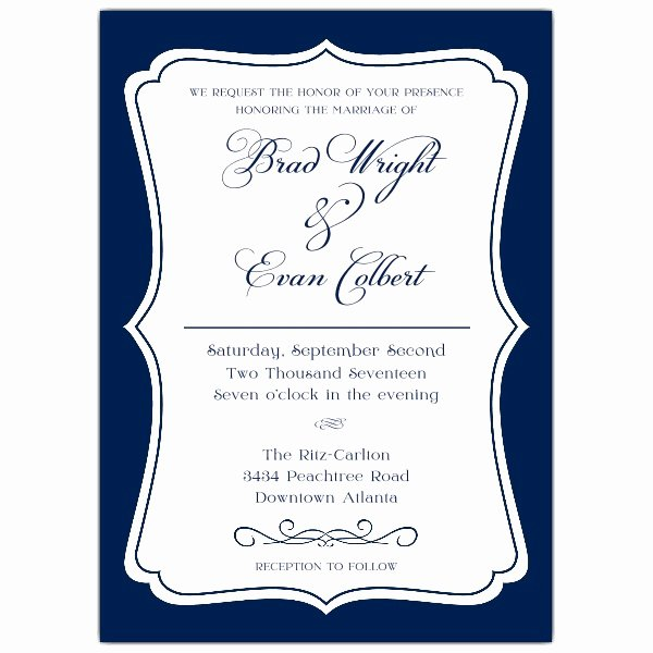Gay Wedding Invite Wording Best Of Badge White On Blue Mitment Ceremony Invitations