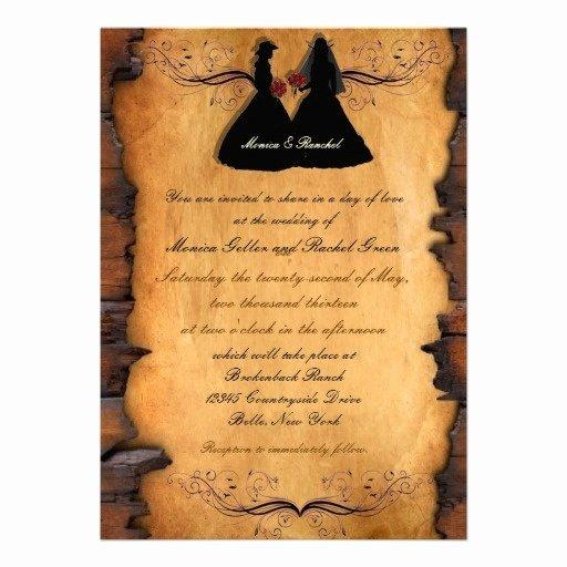 Gay Wedding Invite Wording Inspirational Cowgirl Brides Custom Lesbian Wedding Invitations for the Wording Wedding