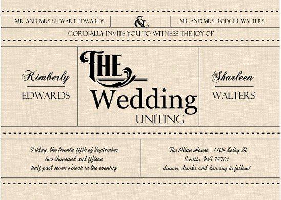 Gay Wedding Invite Wording Luxury Creative Wedding Invitation Wording