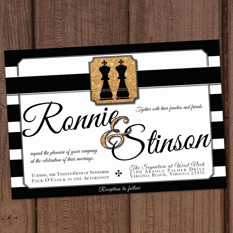 Gay Wedding Invite Wording Luxury Gay Wedding Chess Pieces Invitation