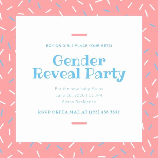 Gender Reveal Invitation Templates Awesome Customize 21 Gender Reveal Invitation Templates Online