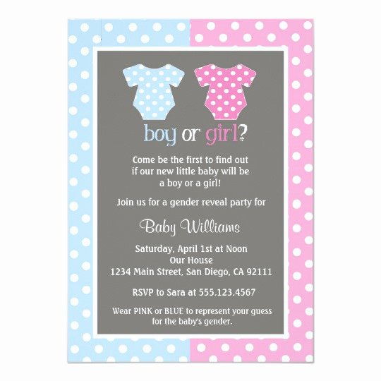 Gender Reveal Invitation Templates Best Of Gender Reveal Party Baby Shower Invitations