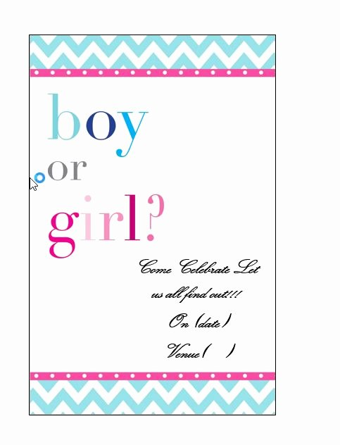 Gender Reveal Invitation Templates Inspirational 17 Free Gender Reveal Invitation Templates Template Lab