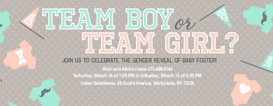 Gender Reveal Invitation Templates Luxury Free Gender Reveal Party Line Invitations