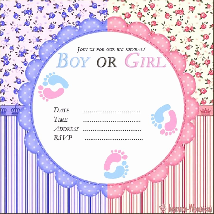 Gender Reveal Invitation Templates Luxury Gender Reveal Invitation Templates
