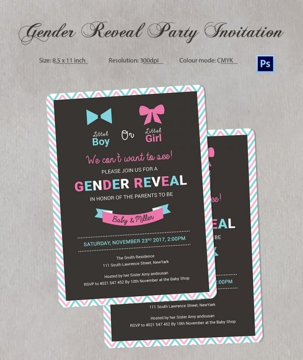 Gender Reveal Invitation Templates Unique Gender Reveal Invitation Templates