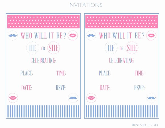 Gender Reveal Party Invitation Templates Inspirational Free Printable Gender Reveal Invitations