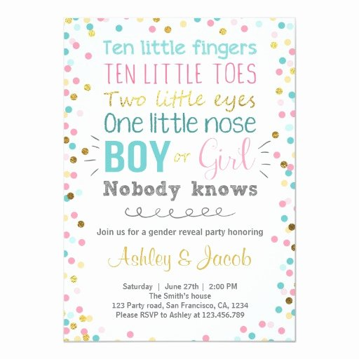 Gender Reveal Party Invitation Templates Luxury Gender Reveal Invitation Baby Shower Boy or Girl