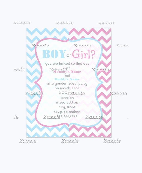 Gender Reveal Party Invitation Templates New 12 Gender Reveal Party Invitation Designs & Templates Psd Ai