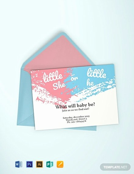 Gender Reveal Party Invitation Templates Unique Free Gender Reveal Party Invitation Template Word Psd Indesign Apple Pages
