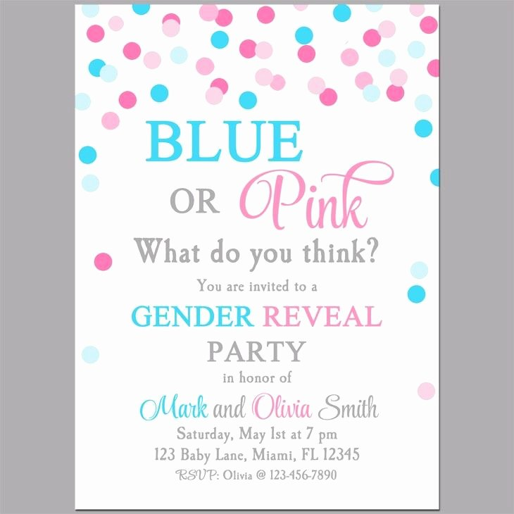Gender Reveal Party Invitation Wording Beautiful Gender Reveal Blue or Pink Party Invitation Gender Reveal Baby Shower
