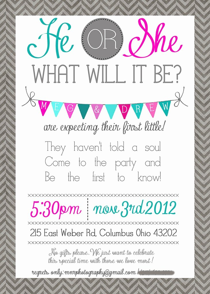 Gender Reveal Party Invitation Wording Fresh Gender Reveal Baby Shower Quotes Quotesgram