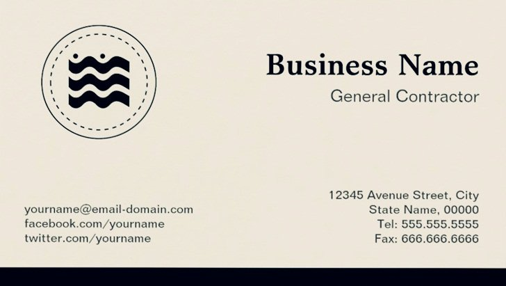 General Contractor Business Cards Awesome General Contractor Business Cards and Templates