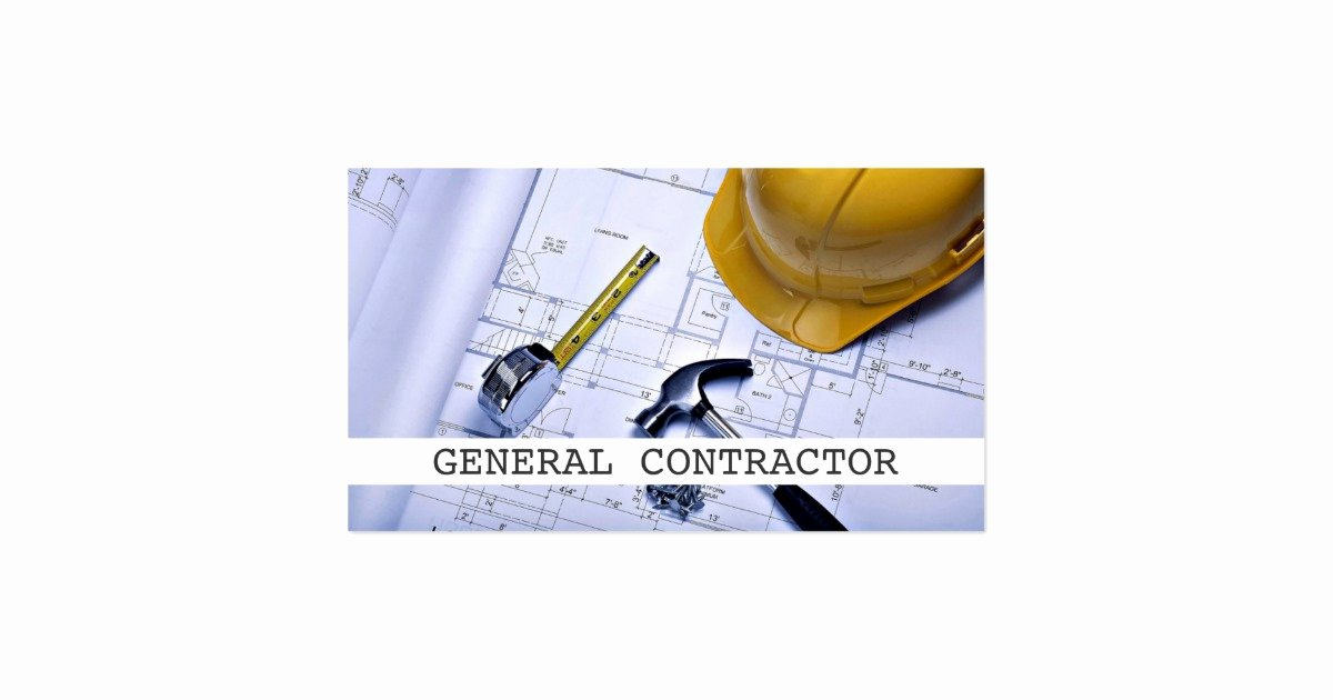 General Contractor Business Cards Beautiful General Contractor Builder Construction Business Business