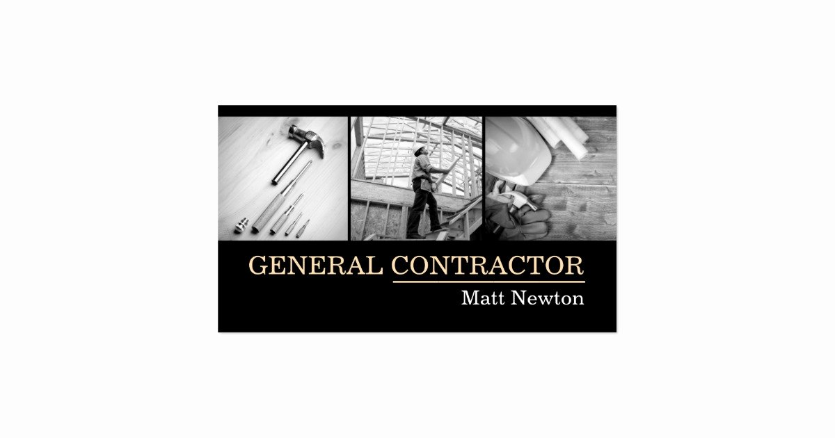 General Contractor Business Cards Beautiful General Contractor Builder Manager Construction Business