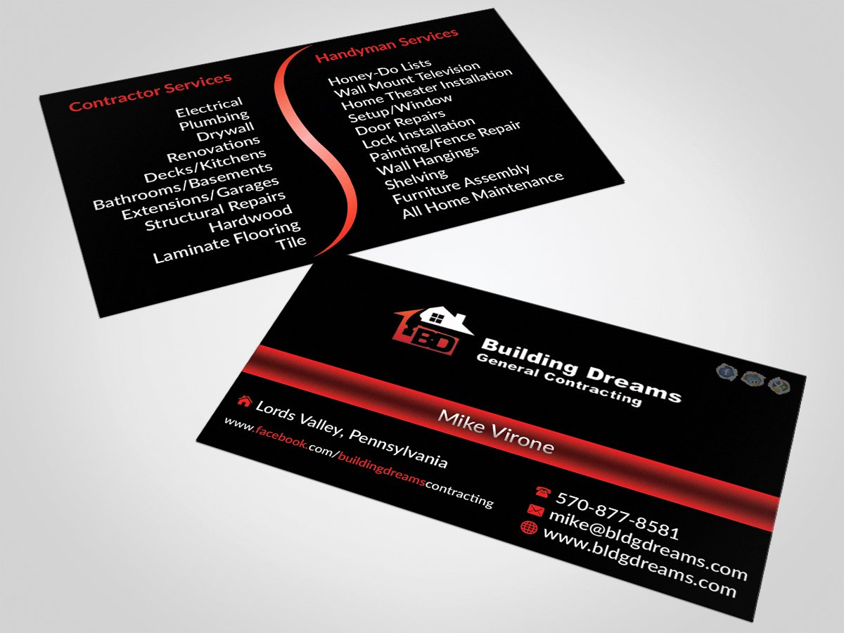 General Contractor Business Cards Best Of Building Business Card Design for Building Dreams General