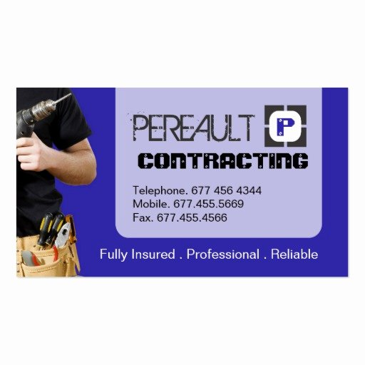 General Contractor Business Cards Best Of General Contractor Business Card