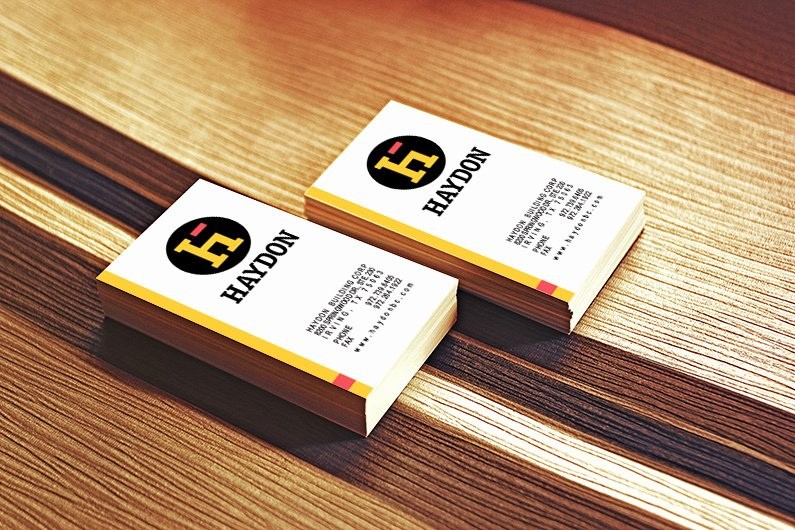 General Contractor Business Cards Best Of Haydon Building Corp Graphic Ideals