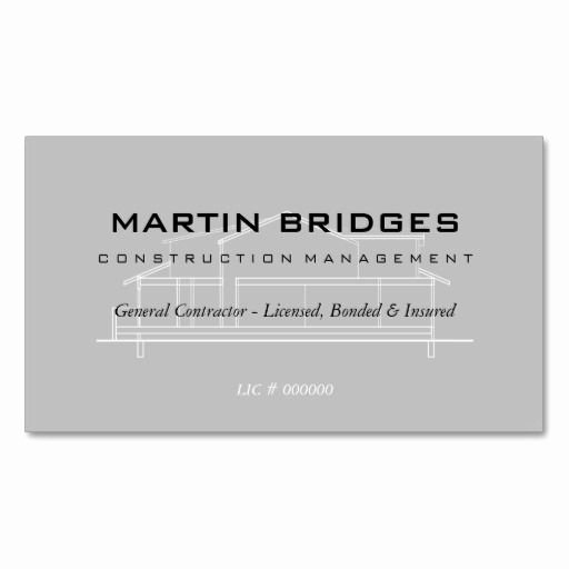 General Contractor Business Cards Best Of Modern General Construction Business Cards