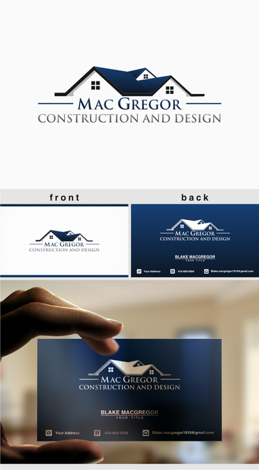General Contractor Business Cards Elegant Create A Logo and Business Card for An Established General