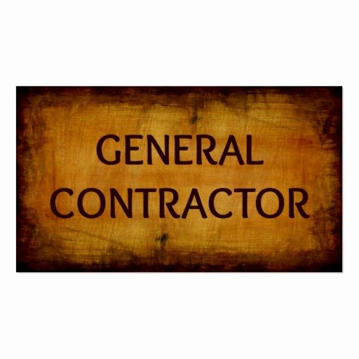 General Contractor Business Cards Fresh General Contractor Business Card