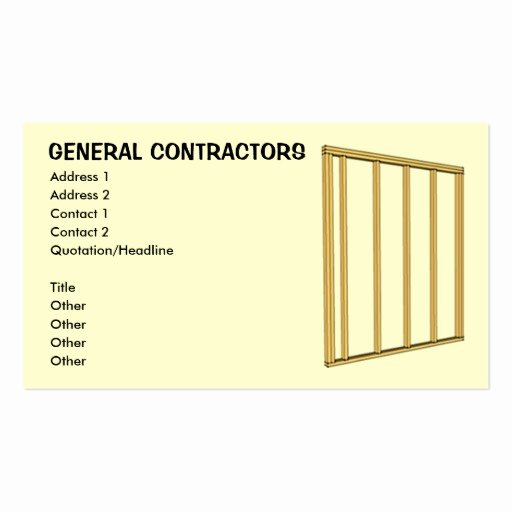 General Contractor Business Cards Fresh General Contractors Double Sided Standard Business Cards