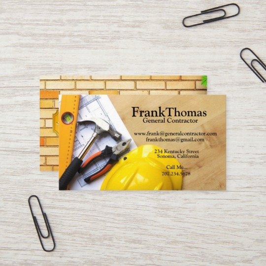 General Contractor Business Cards Inspirational Painting Contractor Business Card