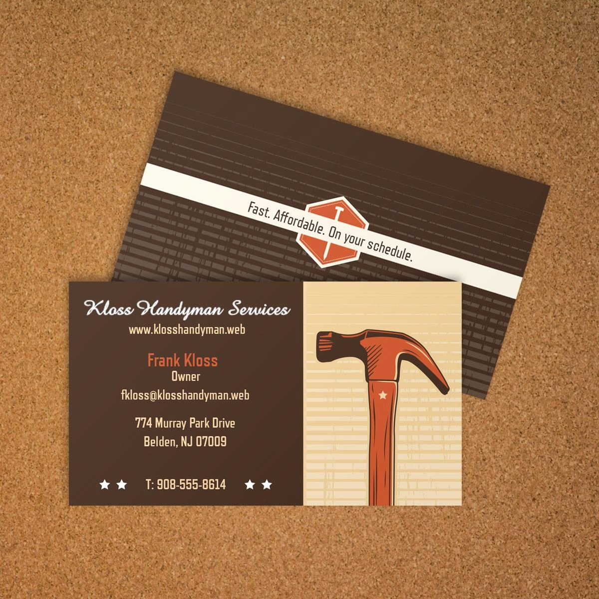 General Contractor Business Cards Lovely General Contractor Business Card Vistaprint