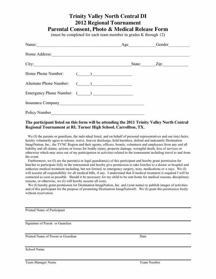 General Media Release form New Photo & General Release form In Word and Pdf formats