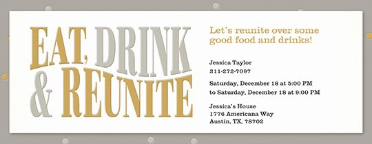 Get together Invitation Message Beautiful Free Class & Family Reunion Invitations