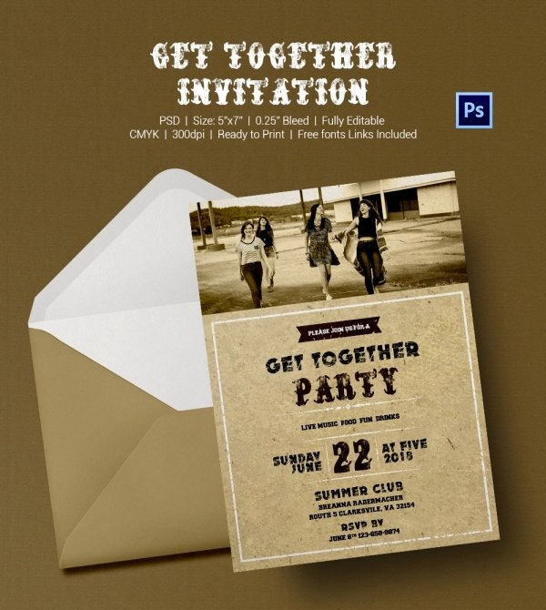 Get together Invitation Message Best Of Get to Her Invitation Template 25 Free Psd Pdf