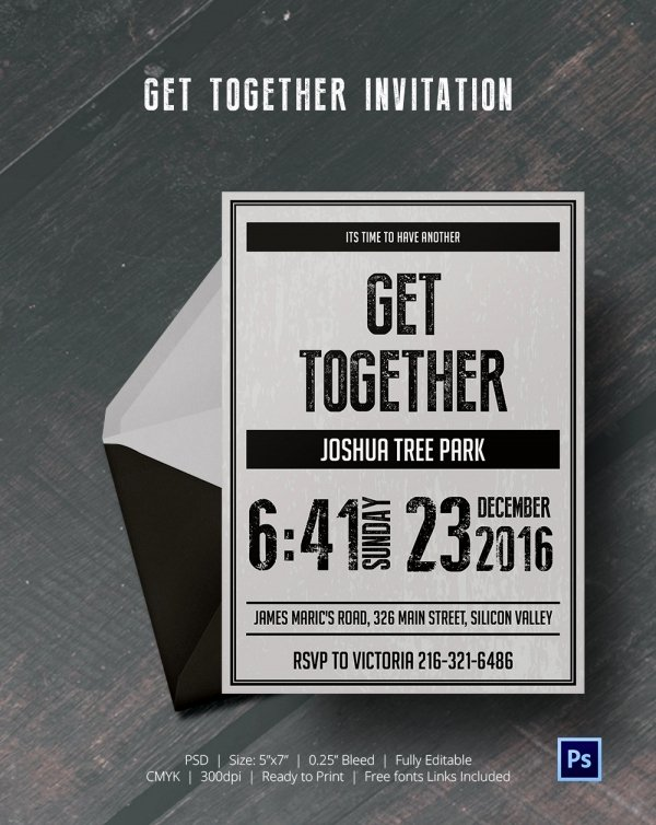 Get together Invitation Message Fresh Get to Her Invitation Template 25 Free Psd Pdf