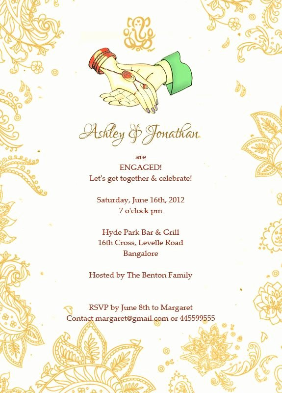 Get together Invitation Message Fresh Sanjog & Roshni are Ting Engaged Let S to Her