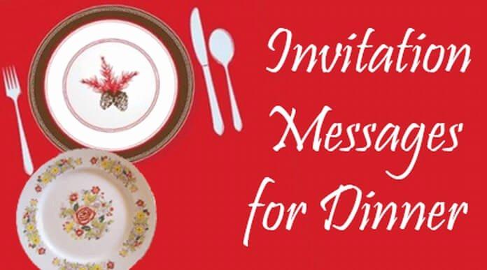 Get together Invitation Message Inspirational Invitation Messages for Dinner Dinner Party Invitation