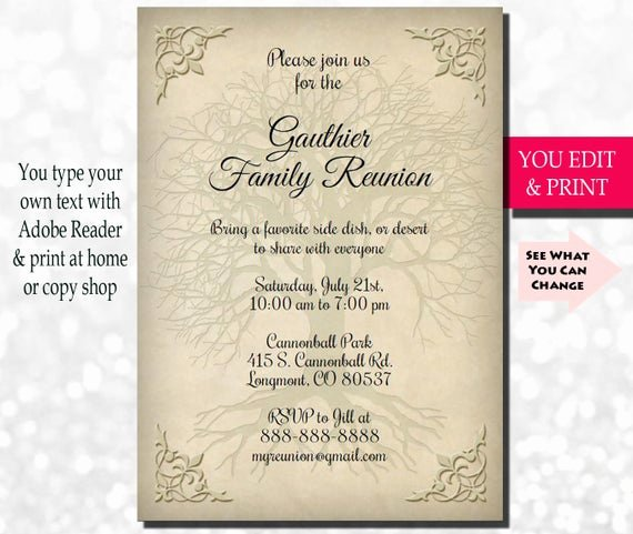 Get together Invitation Message New Family Reunion Invitation Family Party Invitation Family