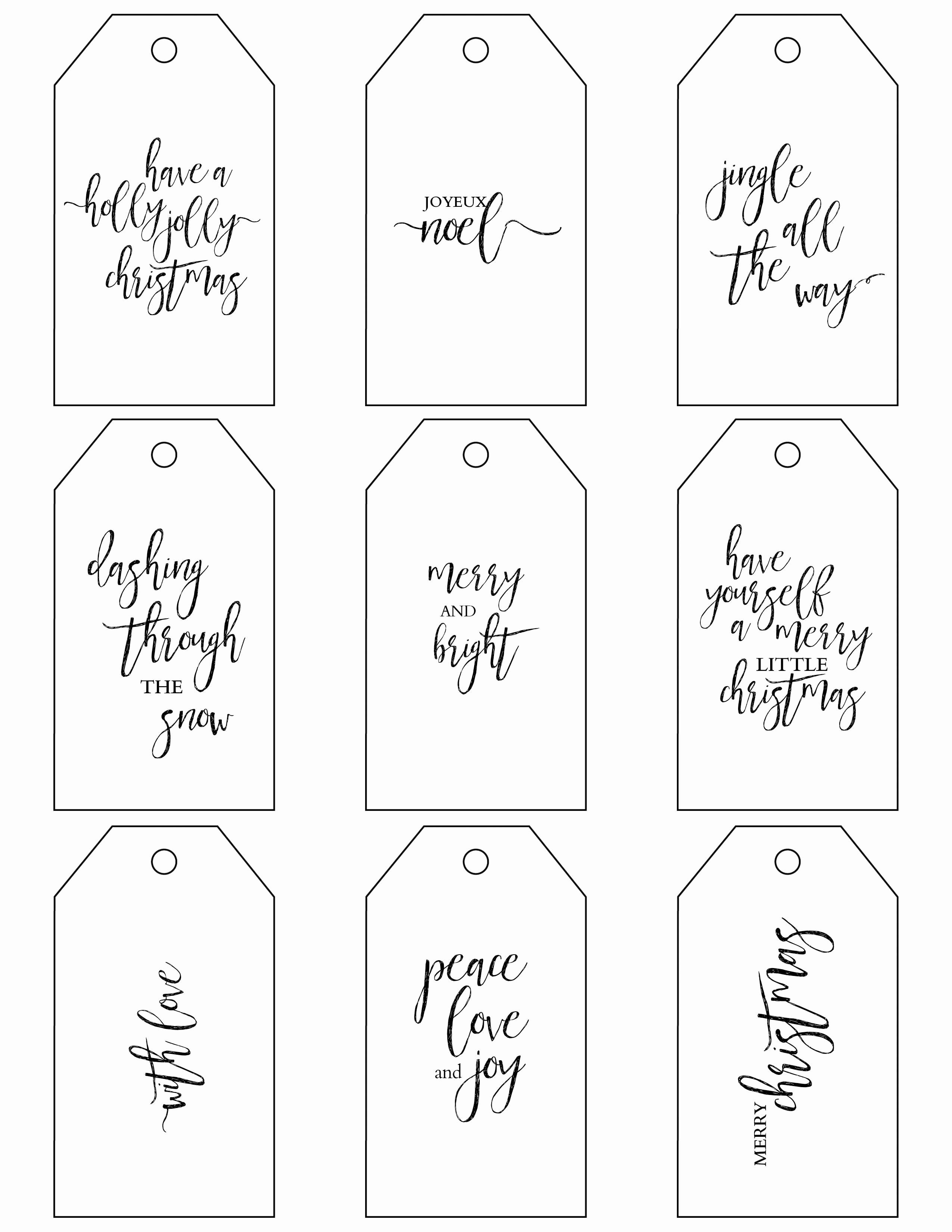 Gift Bag Tag Template Awesome Printable Christmas Gift Tags Make Holiday Wrapping Simple
