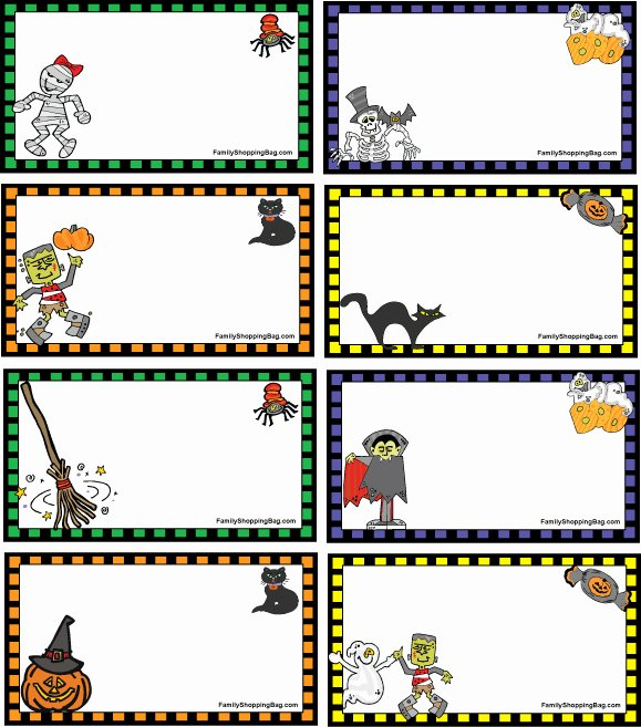 Gift Bag Tag Template Best Of Halloween Gift Tags