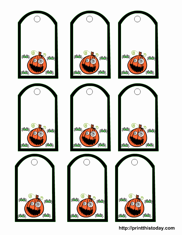Gift Bag Tag Template New Halloween Goo Bag Tag Template – Festival Collections