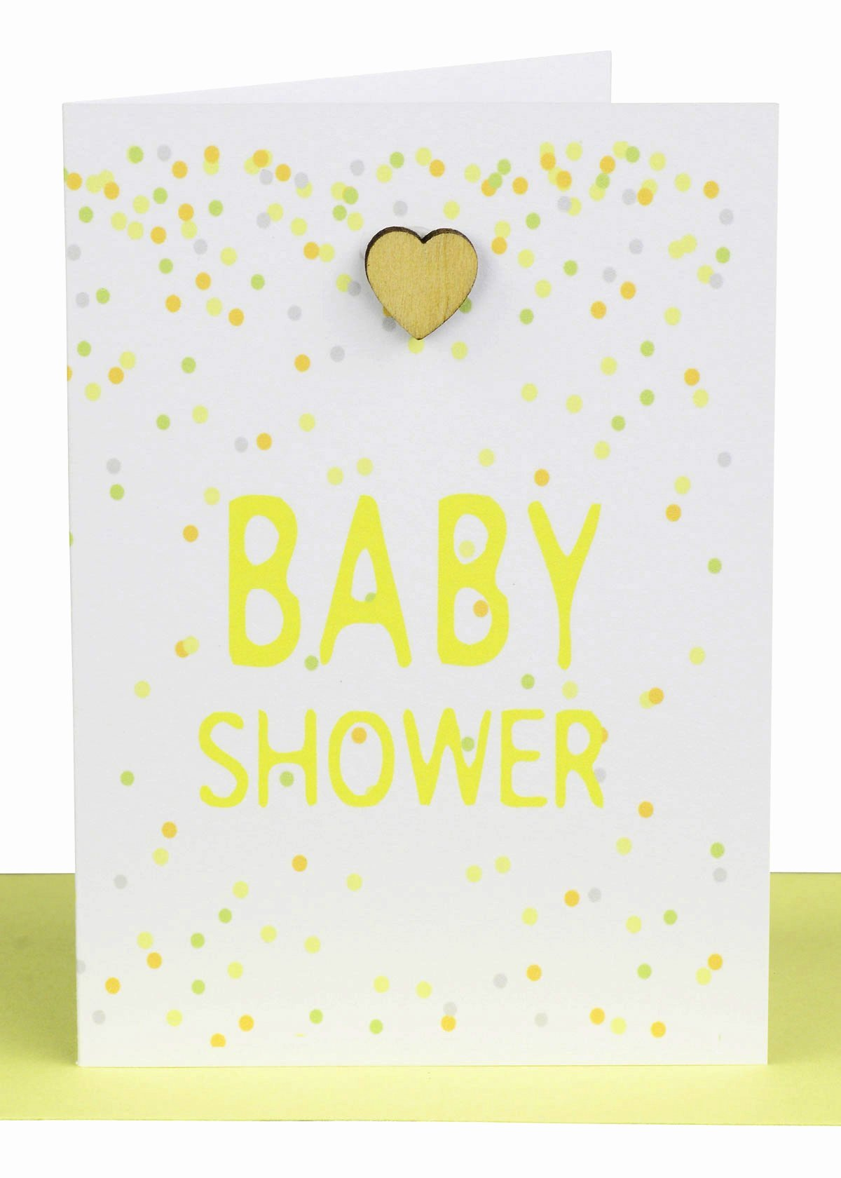 Gift Card Baby Shower Fresh Baby Shower Gift Card Heart & Confetti