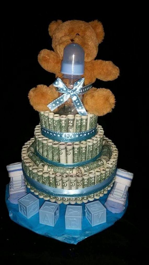 real money cake for boy baby shower t