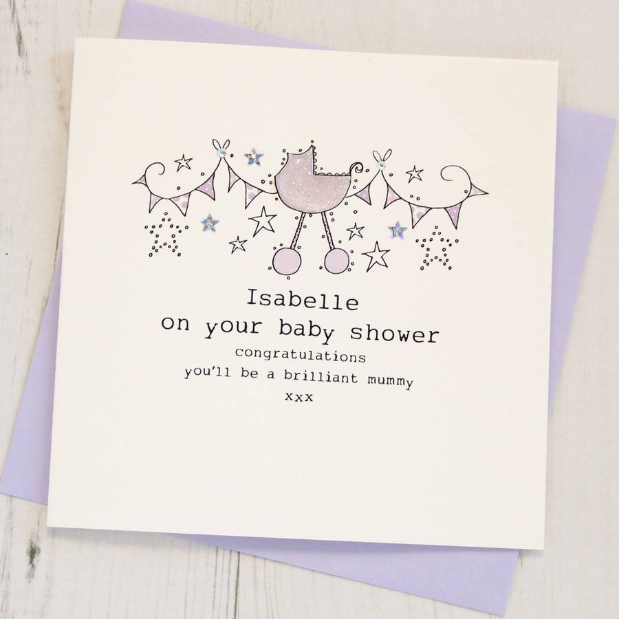 Gift Card Baby Showers Inspirational Personalised Baby Shower Card by Eggbert & Daisy
