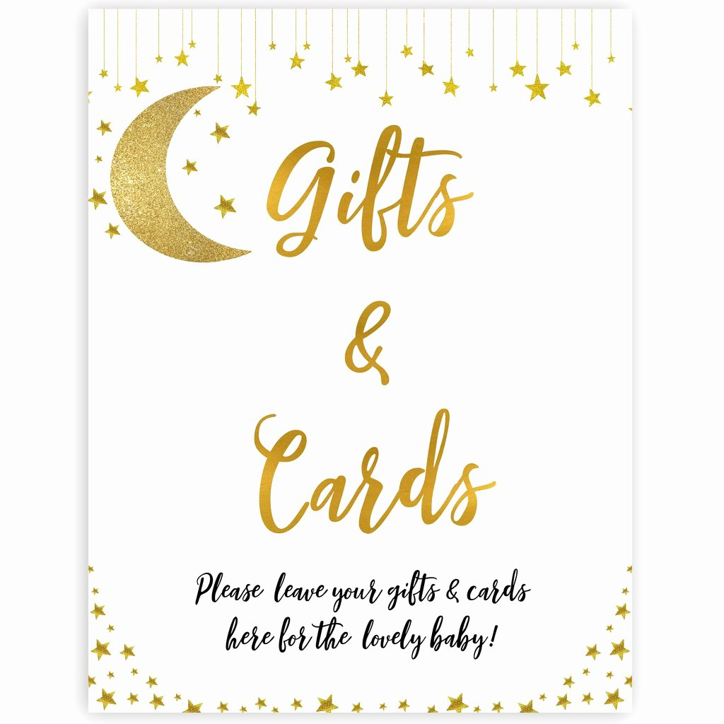 Gift Card Baby Showers New Gifts & Cards Sign Little Star Printable Baby Shower Signs – Ohhappyprintables